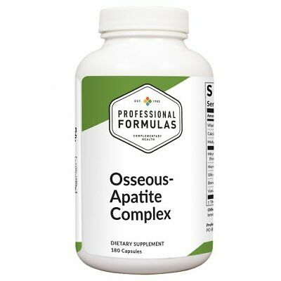 OSSEOUS-APATITE COMPLEX 180 PROFESSIONAL FORMULAS  GLANDULAR SUPPLEMENTS SUPPORT