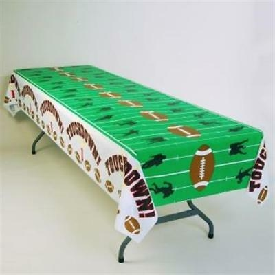 Football Birthday Decorations (Touchdown Football Field Plastic Tablecloth Football Birthday Party)