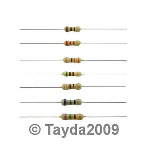 50-x-Resistors-2K2-2-2K-Ohms-OHM-1-4W-5-Carbon-Film