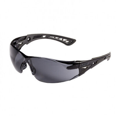 Bolle Rush Safety Glasses With Smoke Anti-fog Lens Blackgrey Temples