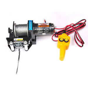 MAXTRA Heavy Duty Winch 12V 2000LB Electric ATV Trailer Recovery Remote Control