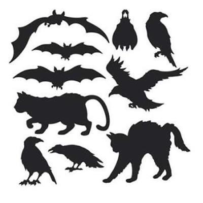 Halloween Silhouettes Cutout Set (Halloween Silhouette Cutouts)