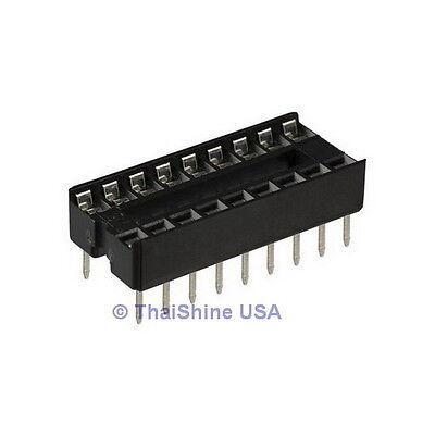 50 x 16 pin DIP IC Sockets Adaptor Solder Type Socket - USA Seller - Free Ship
