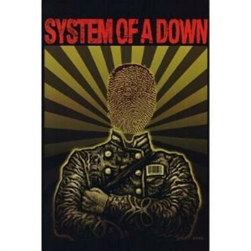 System Of A Down Poster Thumbprint Head