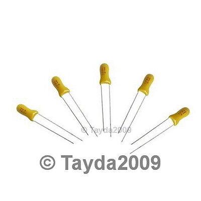 3 X 2.2uf 25v Radial Tantalum Capacitor - Free Shipping