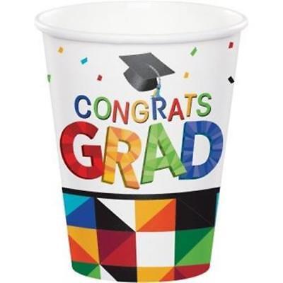 - Graduation Fractal Fun 9 oz Hot/Cold Paper Cups (18 pack)