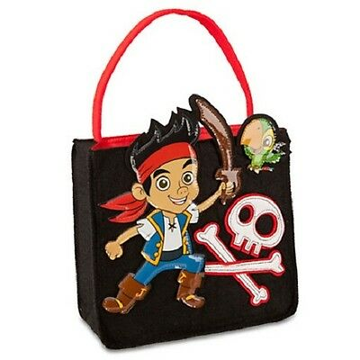 JAKE~ThE NeVeR LaNd PiRaTe~TRICK or TREAT BaG~Halloween~Costume~NWT~Disney Store - Jake The Pirate Costume