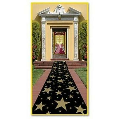 Red And Black Decorations (Black and Gold Star Polyester Aisle Runner Movie Red Carpet VIP Party)