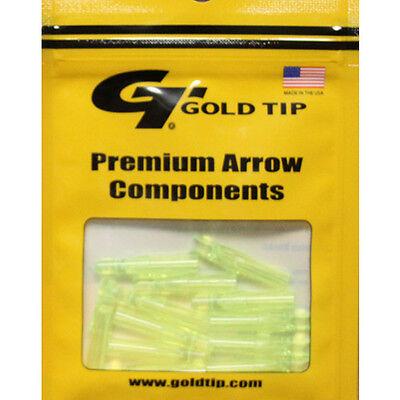- Gold Tip 12pk .246 GT Series Nock Flo Green Archery Arrow #23452 Replacements