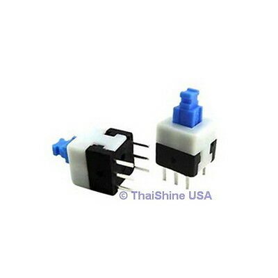 15 x Push Button Switch Latching DPDT 0.5A 50VDC 6x6mm - USA Seller