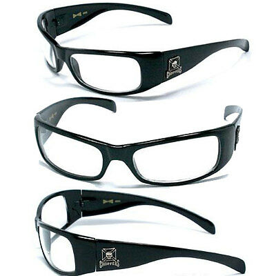Hot-choppers (HOT CHOPPERS Men UV400 Sunglasses - S.Black/ Clear - C11)