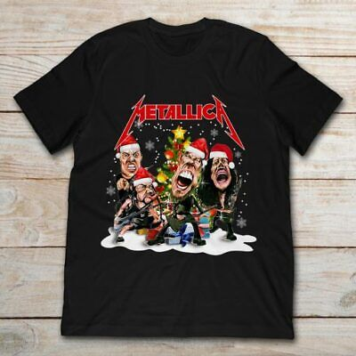 Metallica Christmas Tree Classic Black T Shirt. Best Christmas Gift For Friends. ()