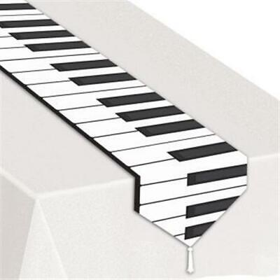 Printed Piano Keyboard Laminated Table Runner - Piano Runner