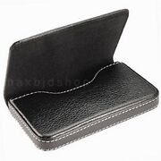 Leather Business Credit ID Card Holder Case