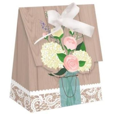 Rustic Wedding Favor Bags 12 Pack Bridal Shower Decoration