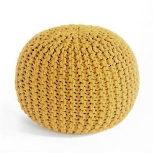 Round Yellow Pouf (RB2)