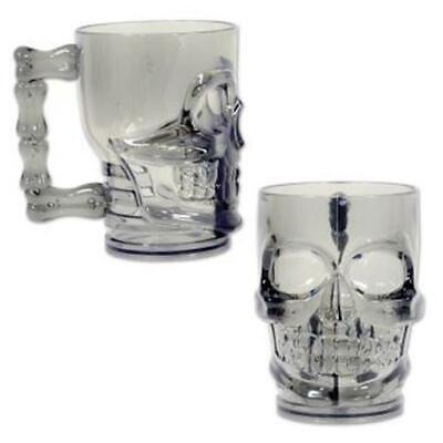 Plastic 20 oz Skull Mug Pirate Cup Birthday Party Favor Halloween Decoration