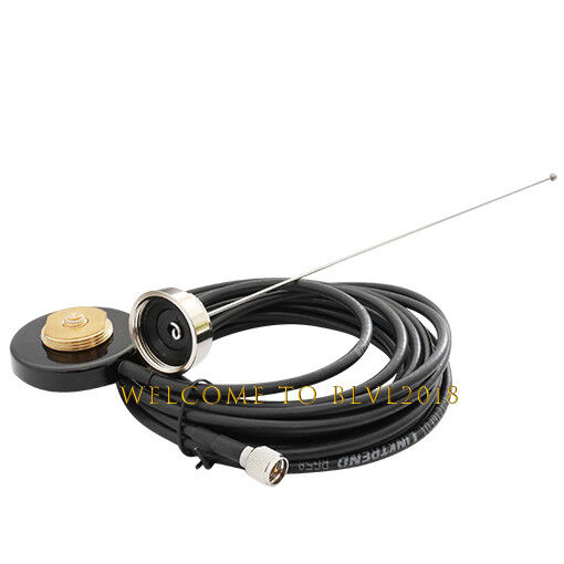 VHF 155-174MHz NMO Antenna NMO Mount to VHF MINI RG58 Cable For Mobile Radio