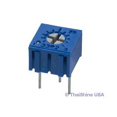 5 X 1m Ohm Trimpot Trimmer Potentiometer 3362 3362p - Usa Seller - Free Ship