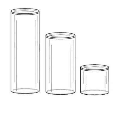 Acrylic Round Pedestal Sphere Or Ornament Display Stand Set Of 3