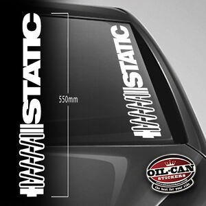 STATIC sticker 550mm wide - Dub - Euro - JDM - VW - DRIFTING - RATLOOK