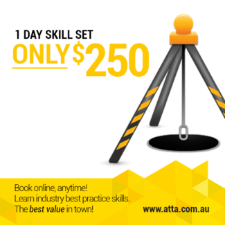 Confined Space Course, Thursday, 22 NOV! ONLY $250