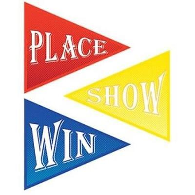 Horse Racing Derby Day Win, Place & Show Cutout Decorations