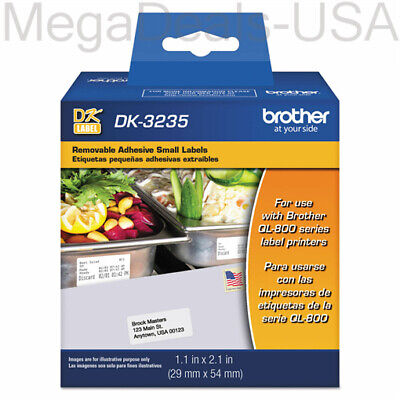 Brother Die-cut Removable Paper Labels 1 18 X1 18 White 800roll Dk3235 - A5