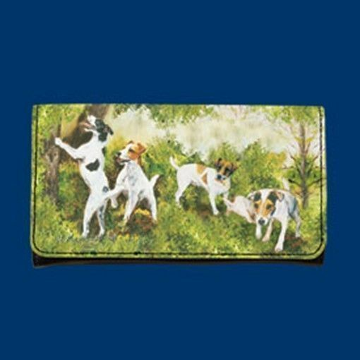 RM wallet JACK RUSSELL TERRIER Dog Breed Ladies Wallet Checkbook Zippered Coin