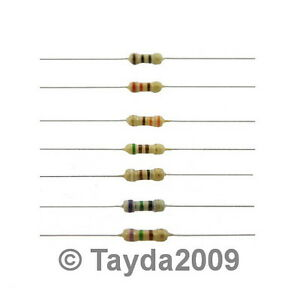 50-x-Resistors-220-Ohms-OHM-1-4W-5-Carbon-Film