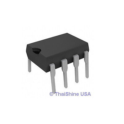 5 X Lm833n Lm833 833 Dual Low Noise Audio Op Amp Ic - Usa Seller - Free Shipping