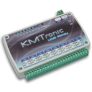 KMTronic USB 8 Kanal Relaiskarte, Seriell Relai relaisplatine MICROCHIP CDC