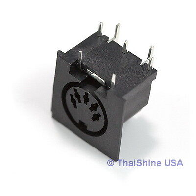 2 X 5 Pin Midi Connector Female Right Angle   Usa Seller   Free Shipping
