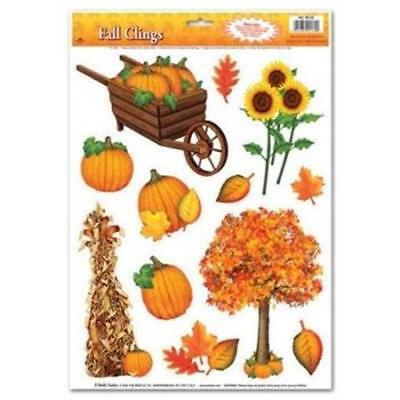 Fall Party Decorations (Fall Window Clings Fall Autumn Thanksgiving Party)