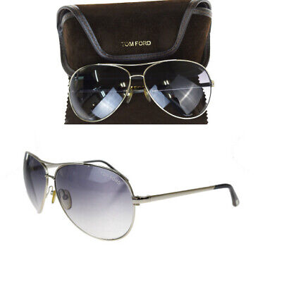 Auth Tom Ford Sunglasses Silver charles TF35 60GB445