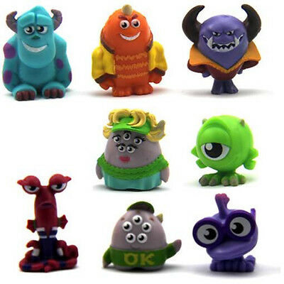 Gift Toys 8pcs Disney Monsters University Imaginext Mike Series 1.5'' Figures
