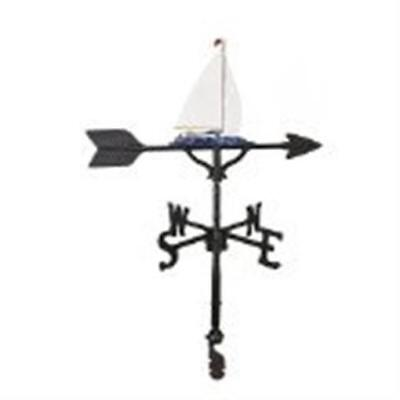 Montague Metal Products WV-271-NC 200 Series 32 In. Color Sailboat Weathervane