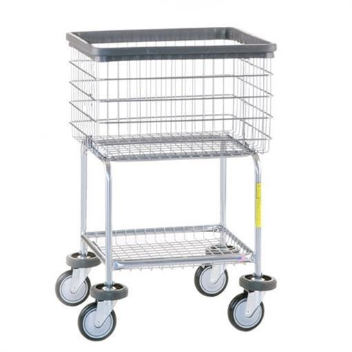 R&B Wire 300G Deluxe Elevated Wire Frame Metal Laundry Cart