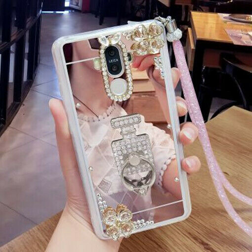 Luxury Women Bling butterfly ring holder stand Slim Soft Case For Samsung Galaxy