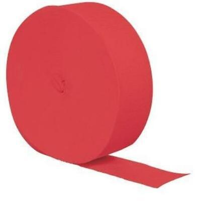 Coral Crepe Paper 81-Foot Roll - Coral Streamers