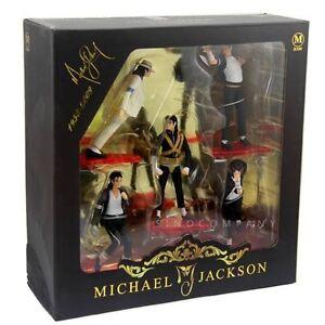 New 5PCS Figure Set MICHAEL JACKSON STATUE DOLL FOREVER COOL AK197