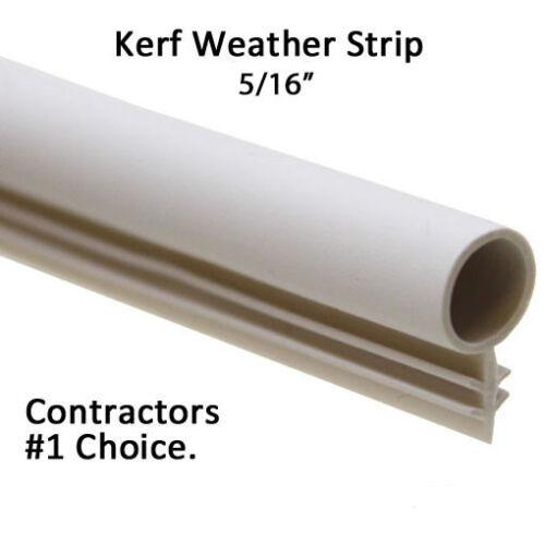 "5/16"" Window Kerf Slot Sash Weatherstrip Seal Bulb by the foot [WHT/TAN/BLK/BRN]"