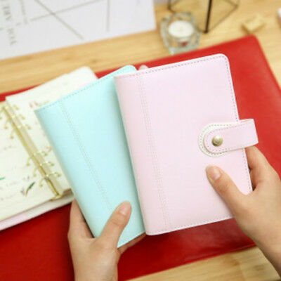 Harphia 2018 Leather Planner Agenda Binder Cover Diary Travel Journal Blue Pink