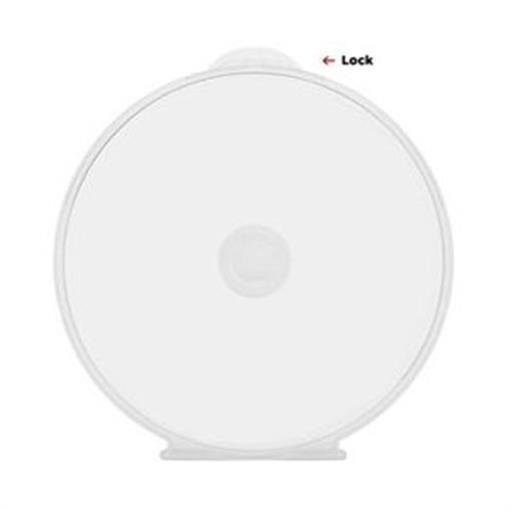 200 Clear CD DVD R Disc Clam C Shell PP Poly Plastic Storage Case 5mm with Lock