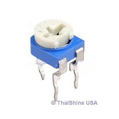10 X 250k Ohm Trimmer Trim Pot Variable Resistor 6mm - Usa Seller - Get It Fast
