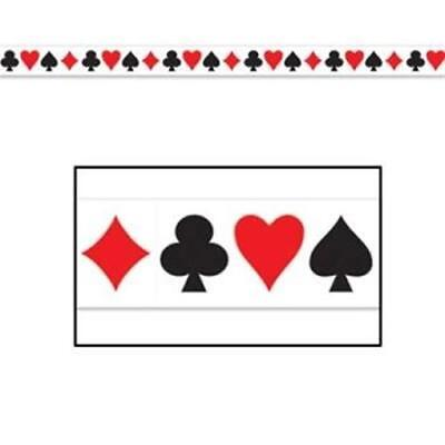 Vegas Halloween Parties (Card Suit All Weather Party Poly Tape 2 Pack Casino Vegas Party)