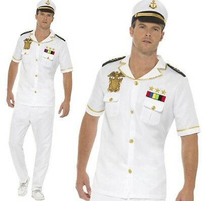 Mens Sailor Captain Fancy Dress Costume Short Sleeve Outfit by Smiffys](Mens Sailor Outfit)