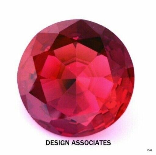 MAN MADE RUBY 12 MM ROUND CUT AAA