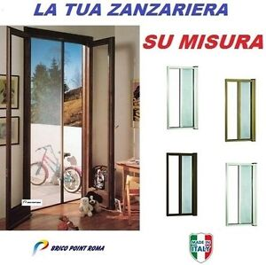 Zanzariera laterale a rullo avvolgente su misura per porte for Zanzariera porta finestra