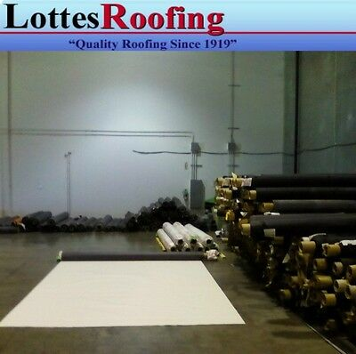 10 X 35 45 Mil White Tpo Rv Rubber Roof Kit Membrane Adhesive Tape Caulk